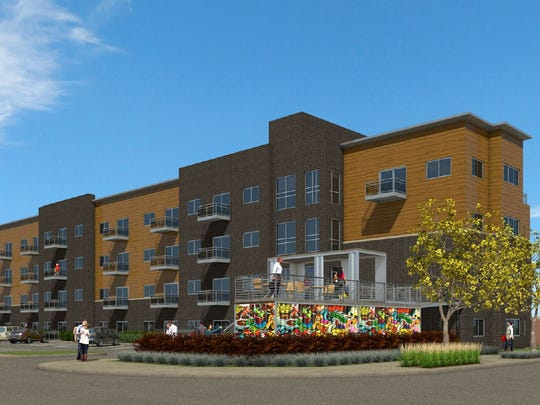 The Connolly Lofts, 401 Southeast 6th St., will repurpose shipping containers into bike parking and a patio.