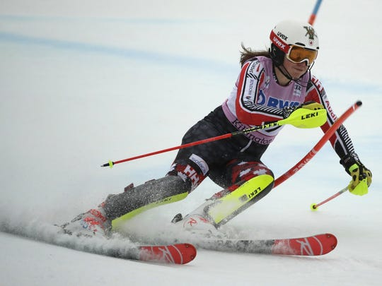 Laurence St. Germain of Canada competes during her