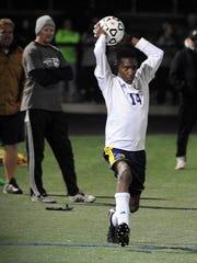 Pocomoke's D'aron Jones throws the ball in against