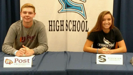 Fall Signing Day at Waldwick HS. Paige Wonsowicz to