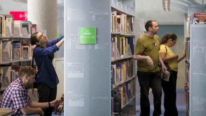 The public is finally allowed back in the Burton Barr Library on Saturday, June 16, 2018. The Library re-opened after a failed sprinkler system caused flooding and a year-long renovation.
