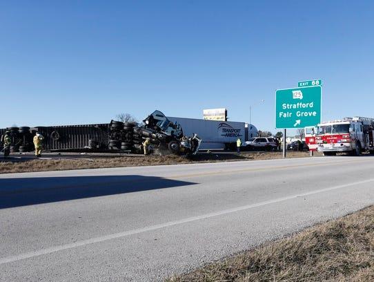 A crash near Strafford shut down traffic on I-44.