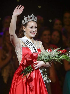 Becca Lax, Miss Vanderburgh County, was crowned Miss Indiana State Fair 2017 Sunday, January 8, 2017, at the Indiana Farmers Coliseum on the Indiana State Fair grounds.