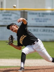 Howell pitcher Sam Weatherly throws against Holt June