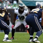 Inside linebacker DeMeco Ryans could miss Sunday's game against the Giants with a groin injury.