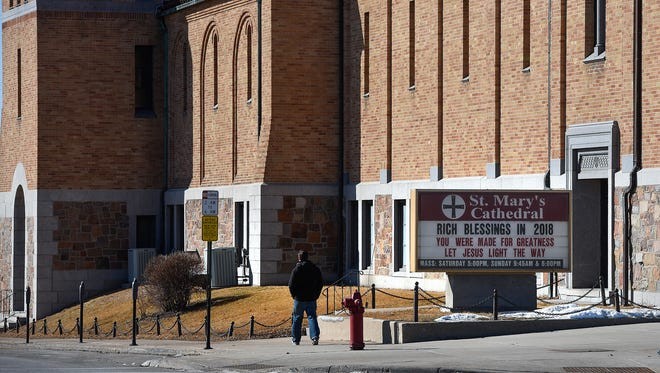 St. Mary's Cathedral is shown Friday, Feb. 16, in St. Cloud.