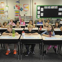 Gail Flaa's second grade class at Discovery Elementary School in Sioux Falls, SD; Thursday, Sept. 10, 2015.