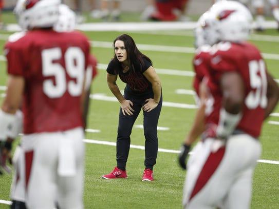 Arizona Cardinals training camp intern coach Dr. Jen