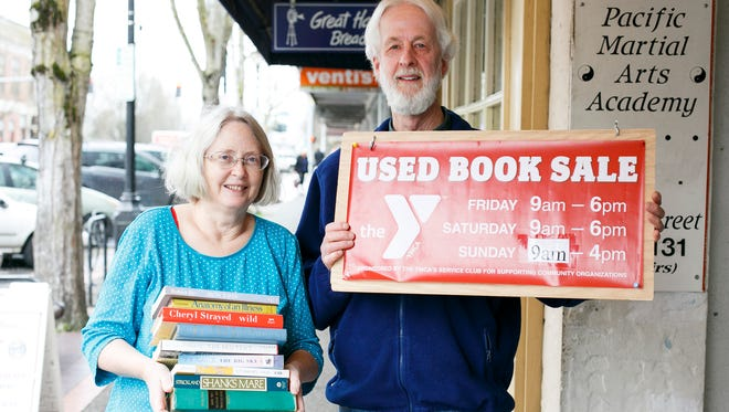Bruce and Carolyn Stock stopped by Holding Court to talk about this year's 63rd Annual Book Sale on Tuesday, Feb. 28, 2017.