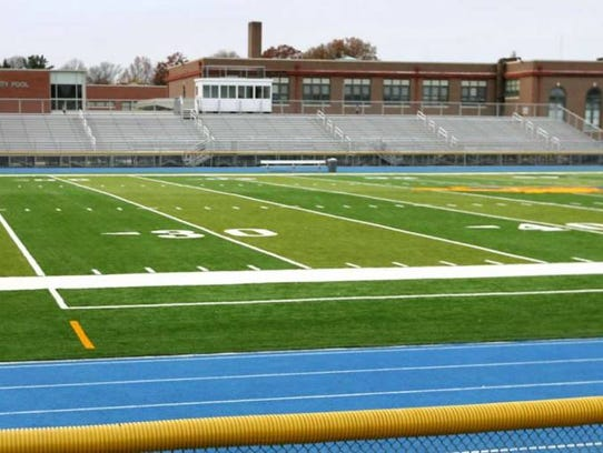The Lyndhurst High School football field.