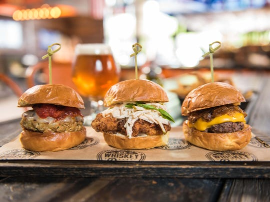 Dierks: The sliders at Dierks Bentley's Whiskey Row.