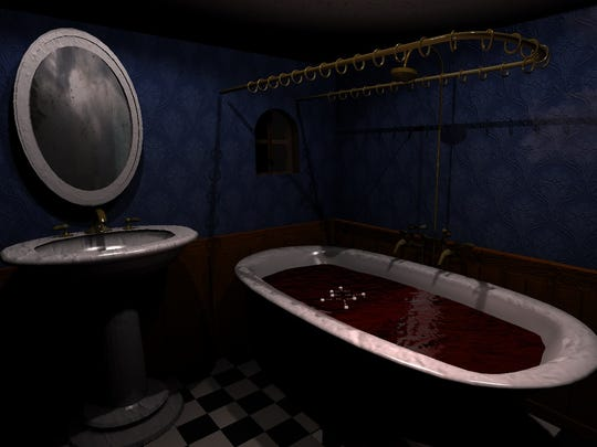 This image shows the concept for an in-game bathroom