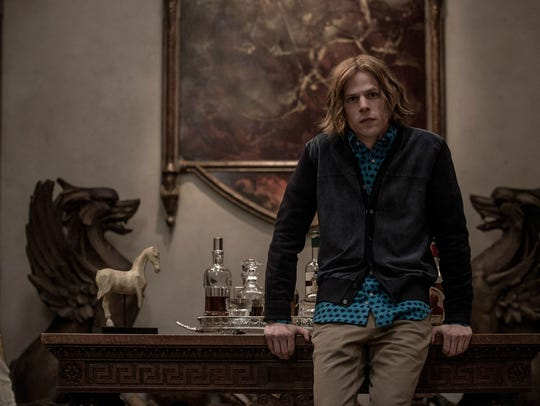 "Jesse Eisenberg plays Lex Luthor in ""Batman v Superman:"