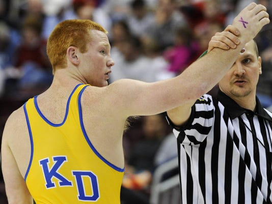 Kennard-Dale's Chance Marsteller switched his college commitment from Penn State to Oklahoma State on Wednesday.