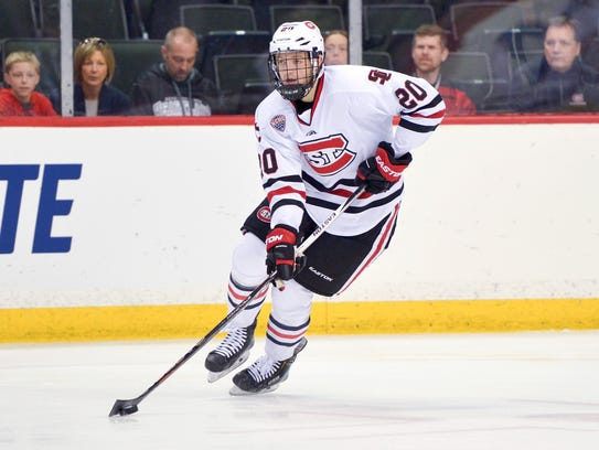 Will Borgen has been a teammate of one of the other players named to the Olympic team. He and Harvard junior center Ryan Donato were junior hockey teammates with the Omaha Lancers and then played together in the world junior championships.