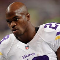 Running back Adrian Peterson and the Minnesota Vikings have been talking, but it's unclear whether he'll stay in Minnesota, be traded or perhaps even get released.