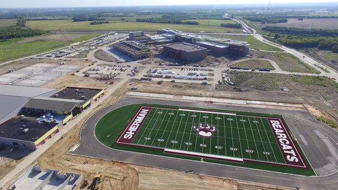 The Sherman Independent School District increased one of its contracts related to the new Sherman High School by $125,000 last month as the project nears completion.