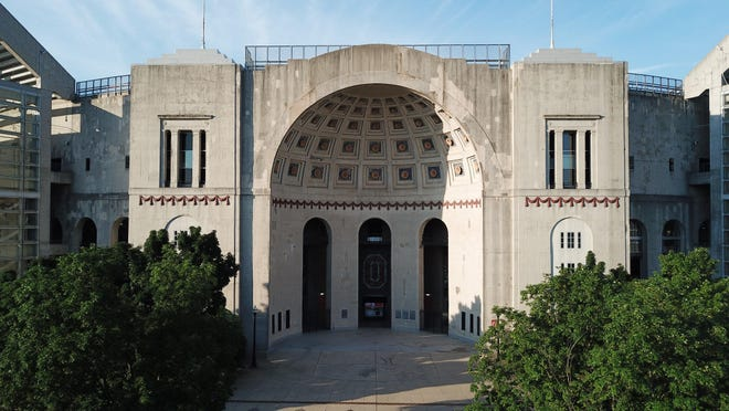 Ohio Stadium, also known as the Horseshoe, the Shoe, and the House That Harley Built, is on the campus of The Ohio State University.  Photographed Wednesday, June 17, 2020.