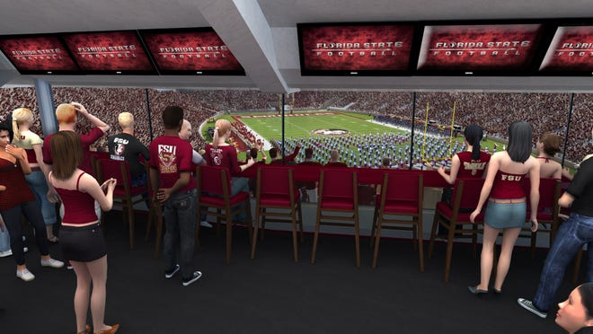 Fans can view game action from any vantage point in the Champions Club.