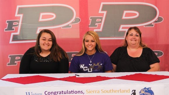 Pisgah's Sierra Southerland will continue her track career at Western Carolina University.