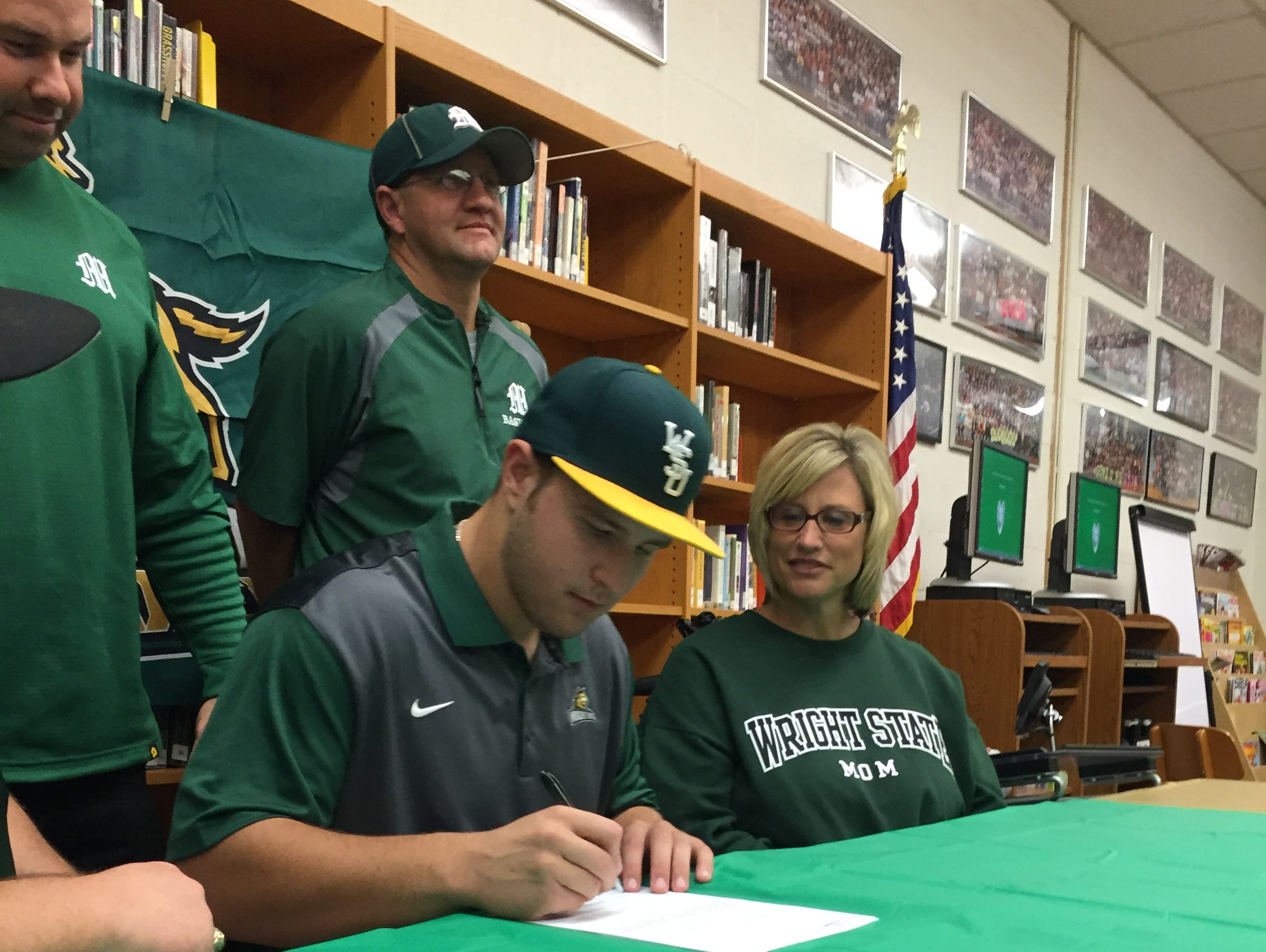 Madison's Zane Harris signs his national letter of intent to play baseball at Wright State.