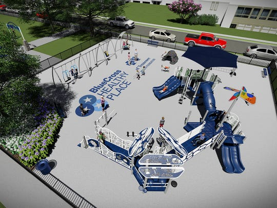 An artist's rendering shows how David Carnes Park in