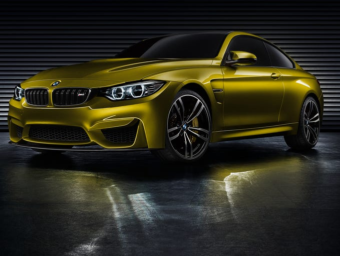 BMW's M4 concept will be shown at Pebble Beach. It's a performance version of the new 4 Series