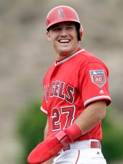 Mike Trout walked more often than he struck out in