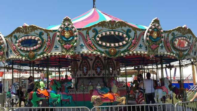 This carousel will be at Lake Lansing Park South June 16-18, offering free rides.