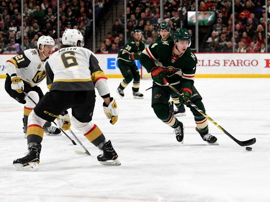 NHL: Vegas Golden Knights at Minnesota Wild