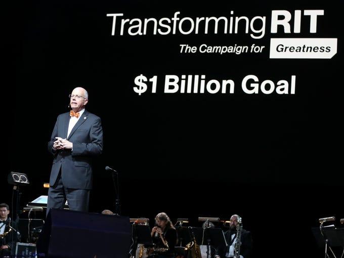 "RIT President David Munson announced ""Transforming"