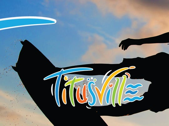 This kiteboarder image is part of the Titusville tourism