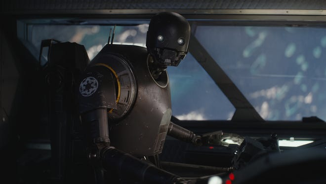 Alan Tudyk stars as K-2SO in 'Rogue One: A Star Wars Story.'