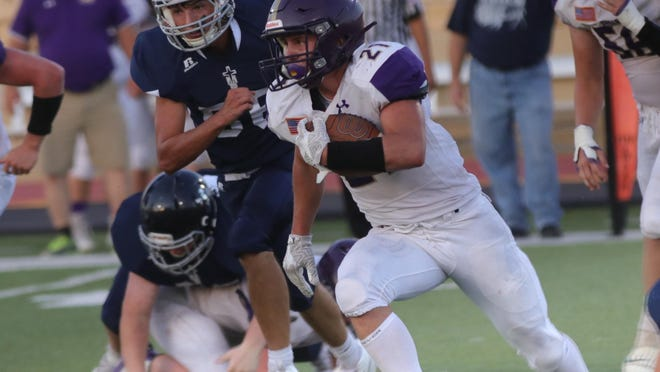 Oakley's Ethan Abell ran for 239 yards and three touchdowns in leading the Plainsmen to a season-opening win over TMP-Marian last Friday.