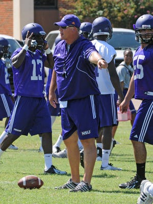 Jay Thomas will lead the NSU Demons through a mock game on Thursday.