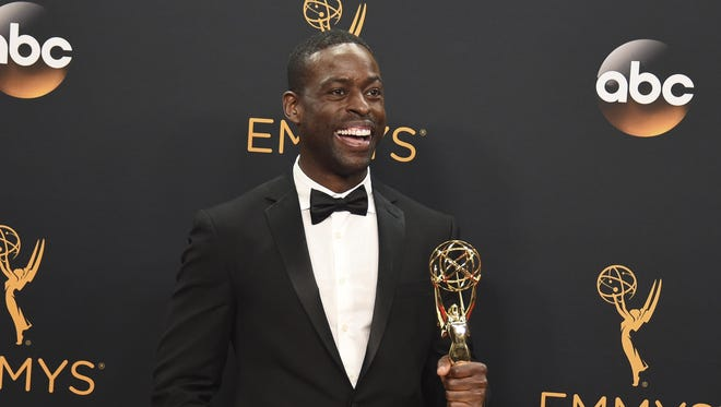 """Sterling K. Brown won the Emmy Award for outstanding supporting actor in a limited series or a movie for FX's """"The People v. O.J. Simpson: American Crime Story."""""""