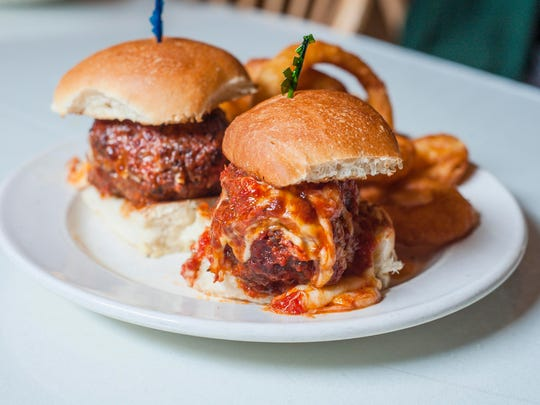 Meatball sliders at The Rotisserie in South Burlington on Tuesday, October 17, 2017.
