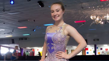 Inline skater aims for her own gold