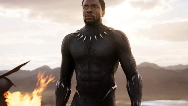 "Chadwick Boseman appears in a scene from ""Black Panther."""