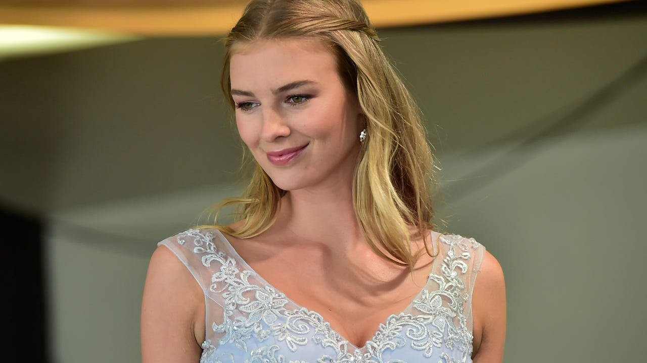 The J&B Bridal Expo held at Wilson College on Sunday, Jan. 7 featured a New York runway fashion show which showed the latest gowns and bridesmaid dresses from New York designer Madeline Gardner.