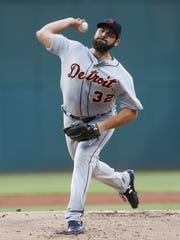 Tigers pitcher Michael Fulmer pitches during the first