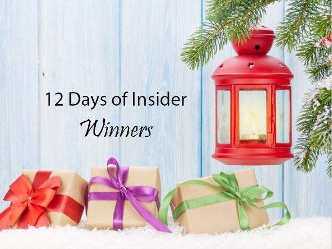 """Here's a list of our winners from the """"12 Days Of Insider"""" Sweepstakes"""