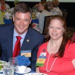 "Matt Susin and Cindy Wooten attend the ""Women Who Care Share"" luncheon to benefit the Brevard Rescue Mission on April 17 at the Hilton Melbourne Rialto."