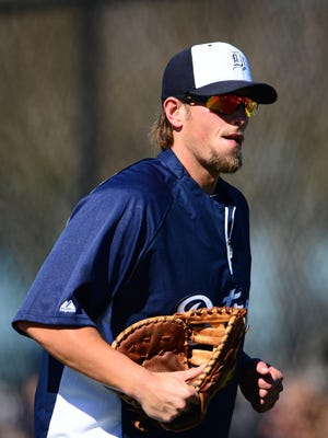 Jordan Lennerton at Detroit Tigers' spring training in 2014.