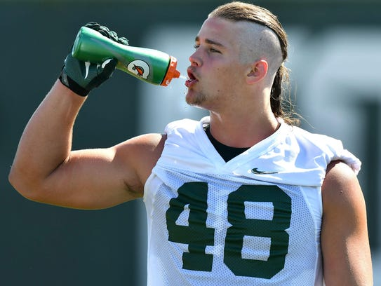 Michigan State defensive end Kenny Willekes had a pair