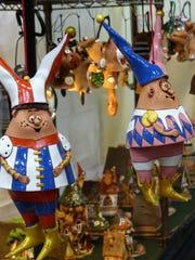 Two Sabaliauskas characters in clay.
