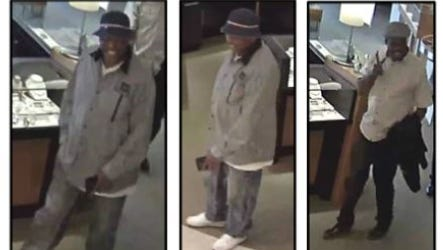 Chandler police are looking for two men who may have stolen more than $42,000 in jewelry from three stores.