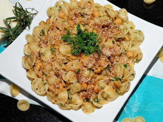 Both mashed and roasted chickpeas go into Savory Pasta