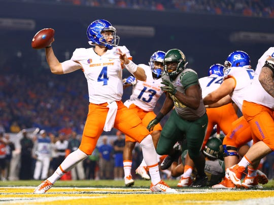 Boise State quarterback Brett Rypien, shown in last year's Cactus Bowl, has thrown for 6,999 yards and 44 touchdowns the past two seasons.