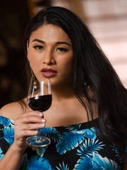 Renae Diaz Punzalan at the On the Rocks bar in the